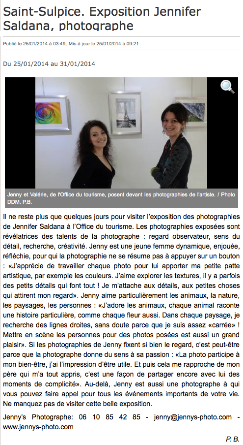 article jennys photographe