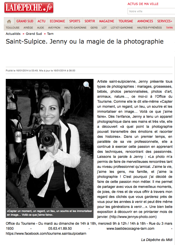 la depeche article jennys photo